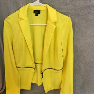 Neon yellow crop jacket